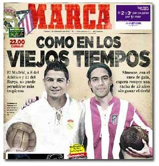 Cristiano Ronaldo y Falcao, en portada de Marca