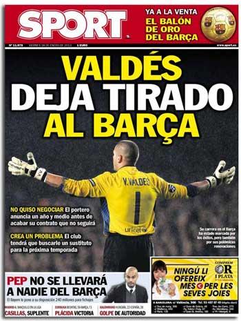 Diario Sport: Víctor Valdés deja tirado al Barça