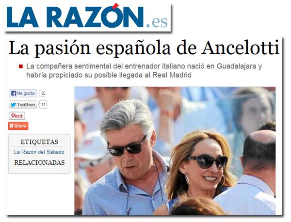 La mujer de Ancelotti en La Razón