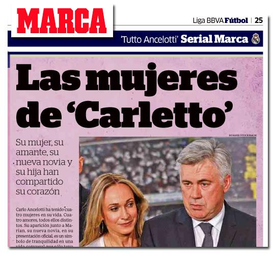 La mujer de Ancelotti en Marca