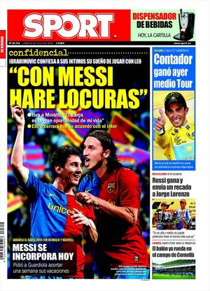 Ibrahimovic: con Messi haré locuras