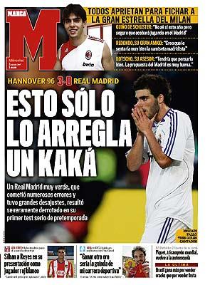 Kaká en portada del diario Marca