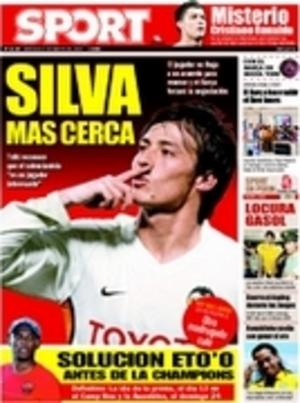 David Silva en portada del diario Mundo Deportivo