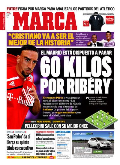 Franck Ribery en portada del diario Marca