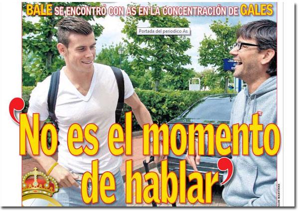 Gareth Bale en portada del diario As