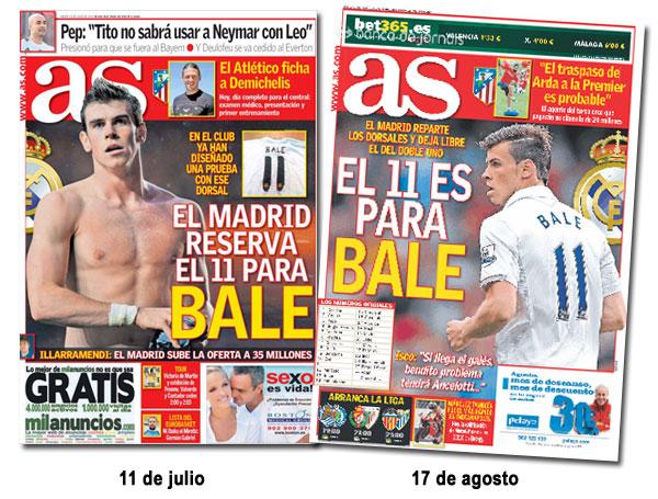 ¿Qué dorsal llevará Garteh Bale en el Real Madrid?