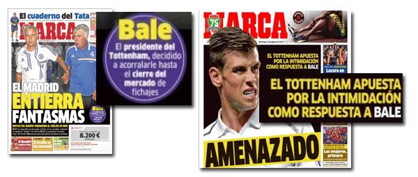 Gareth Bale en las portadas de Marca