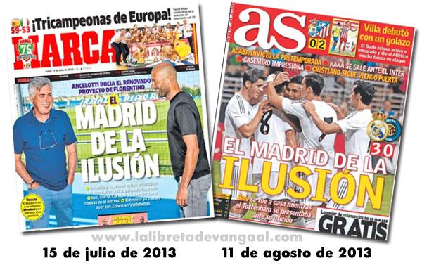 Portadas de As y Marca: el Madrid de la ilusión