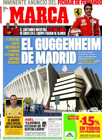El Guggenheim de Madrid en portada de Marca