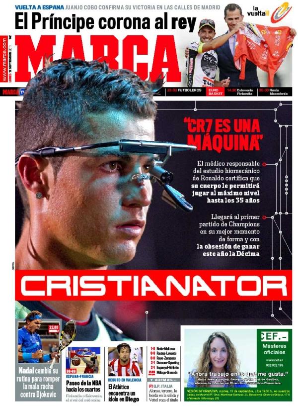 Cristianator en portada de Marca