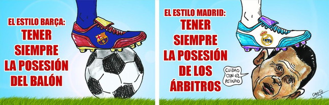 Viñeta de Caye en Sport sobre árbitros y Real Madrid