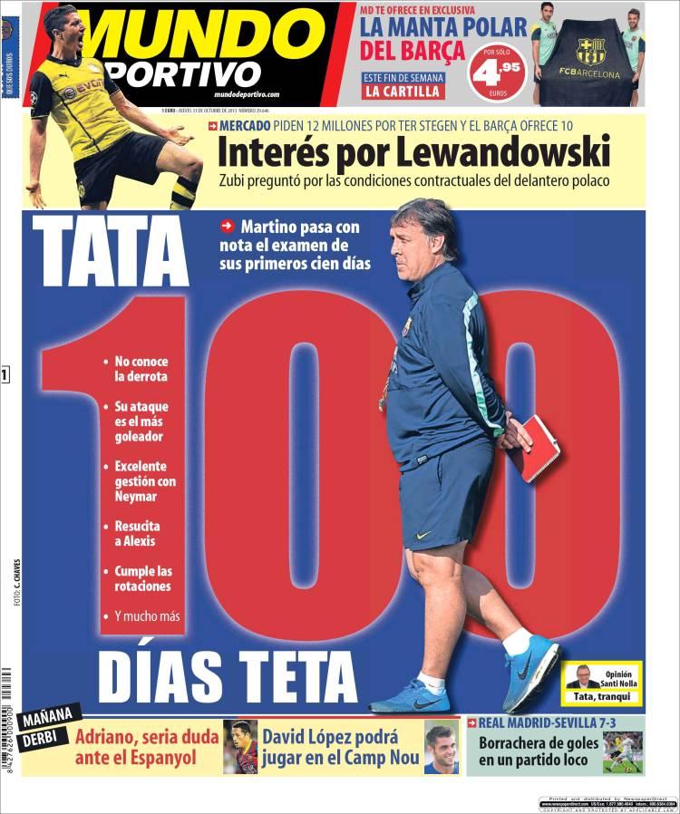 Tata, cien días teta en Mundo Deportivo