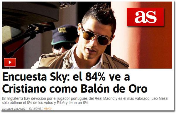 Cristiano Ronaldo y el Balón de Oro en As