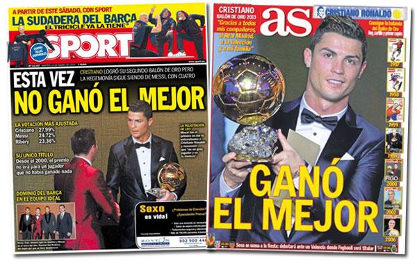 Portadas de Cristiano Ronaldo y el Balón de Oro
