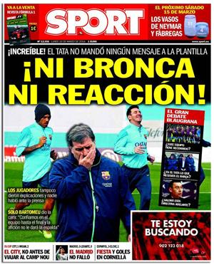 El diario Sport contra Tata Martino
