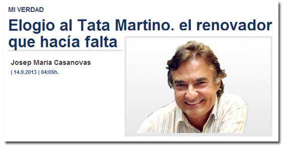 Josep Maria Casanovas sobre Tata Martino