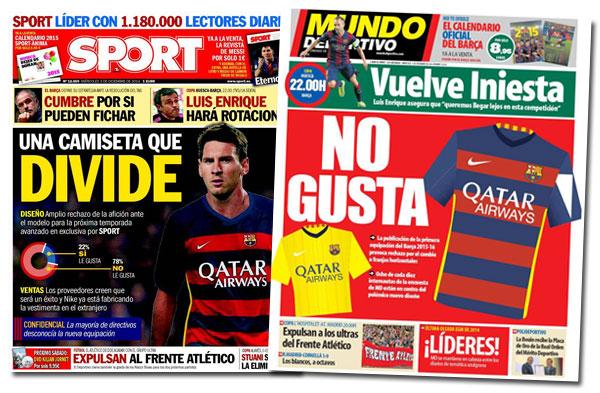 La nueva camiseta del Barça