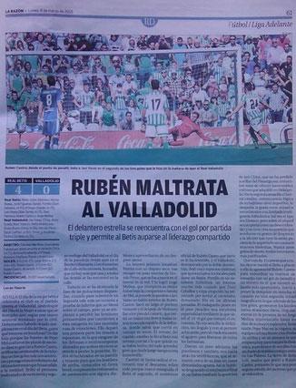 Rubén Castro maltrata al Valladolid
