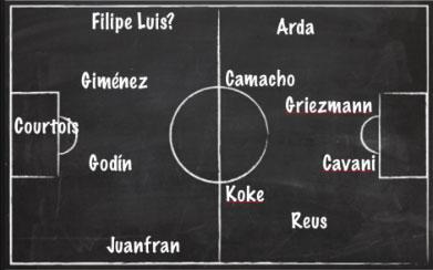 El once del Atlético de Madrid 2015/16 según Juan Gato
