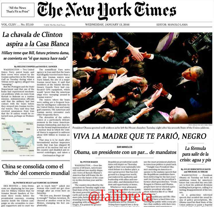 The New Yorkt Times editado por Manolo Lama