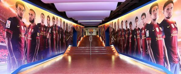 Túnel de vestuarios del Camp Nou