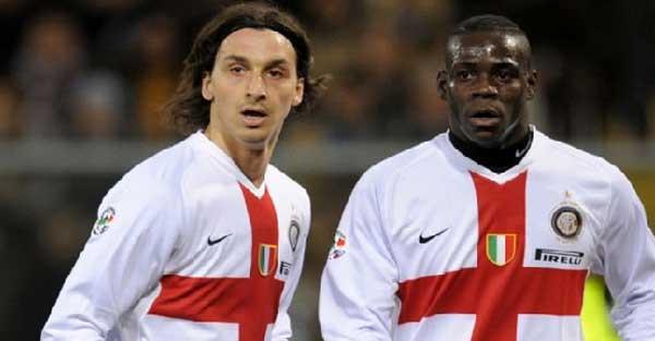Zlatan Ibrahimovic y Mario Balotelli fueron compañeros en el Inter
