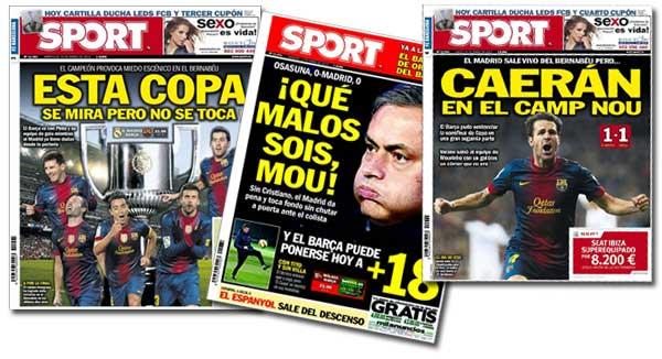 Portadas del diario Sport