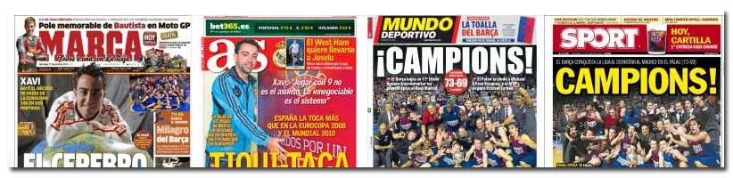 16 de junio de 2012: el Barcelona Regal gana la Liga ACB al Real Madrid en el quinto partido.