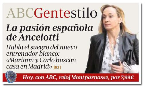 La mujer de Ancelotti en ABC