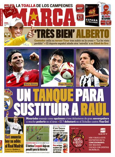 Portada de Marca: tanques para sustituir a Raúl