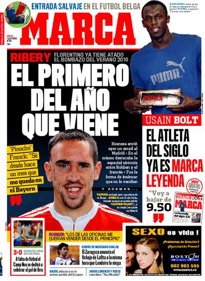 Franck Ribery, fichado por el Real Madrid según Marca