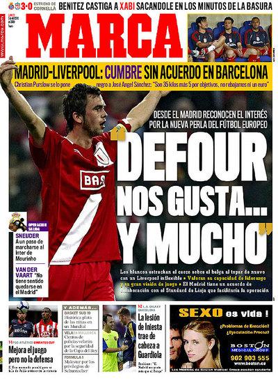 Steven Defour en portada de Marca