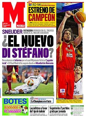 Wesley Sneijder, el nuevo Di Stéfano para Marca