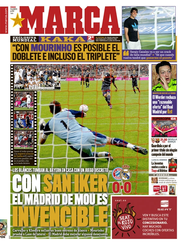 Iker Casillas en portada del diario Marca