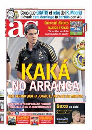 Kaká en portada del diario As