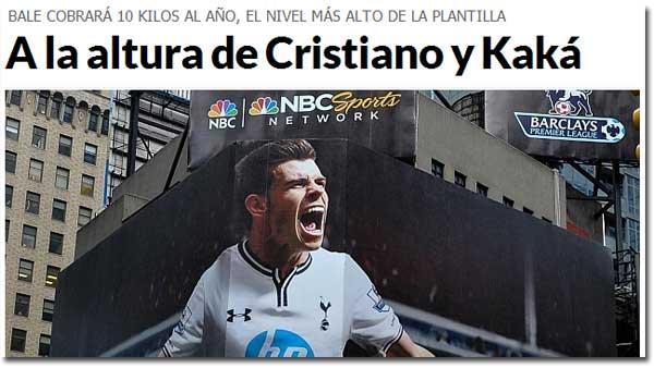 ¿Cuánto ganará Bale en el Real Madrid?