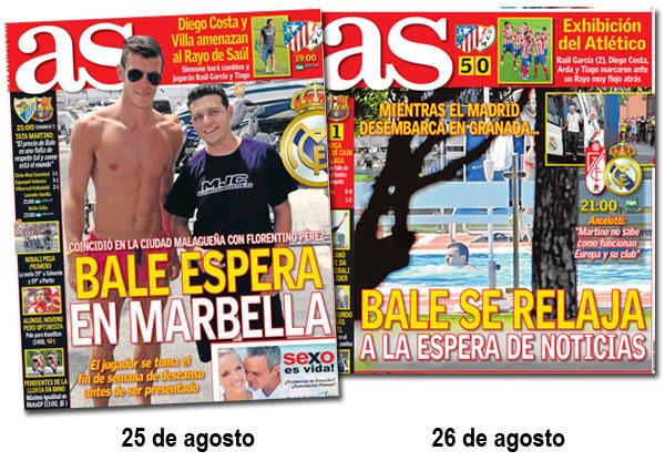 Gareth Bale en portada de As