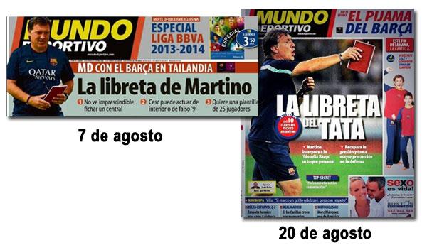La libreta del tata Martino en Mundo Deportivo