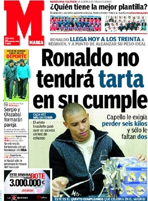 Ronaldo no tendrá tarta en su cumple