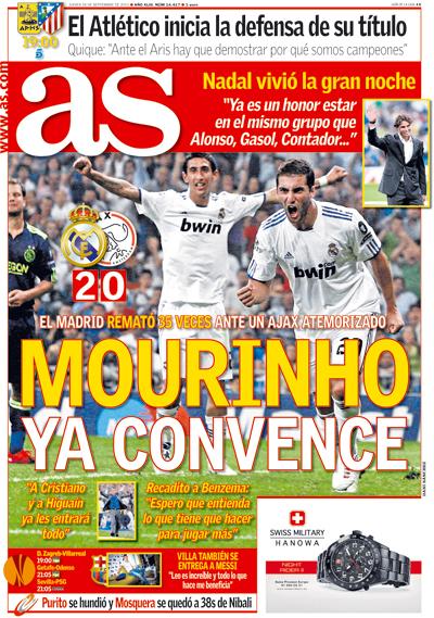 Mourinho en la portada del diario As