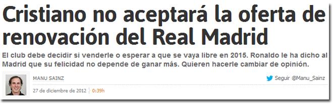 La renovación de Cristiano Ronaldo en As