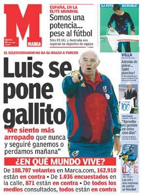 Luis Aragonés en portada de Marca