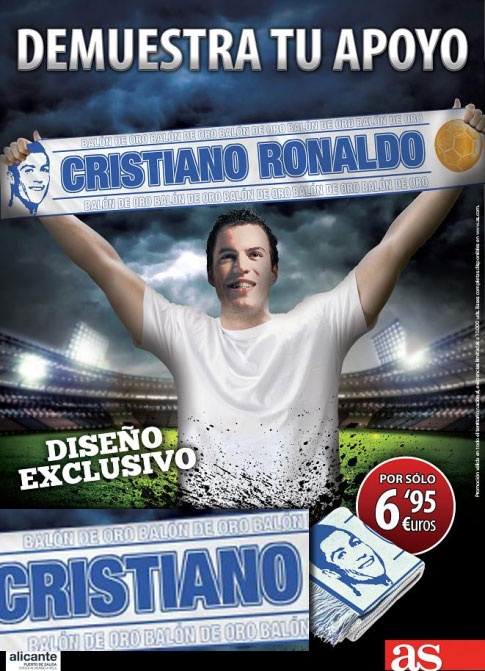 Bufanda Cristiano Ronaldo Balón de oro del diario As
