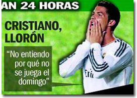 Cristiano es un llorón segçun Sport