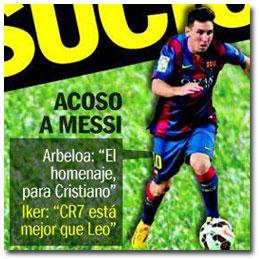 Acoso a Leo Messi