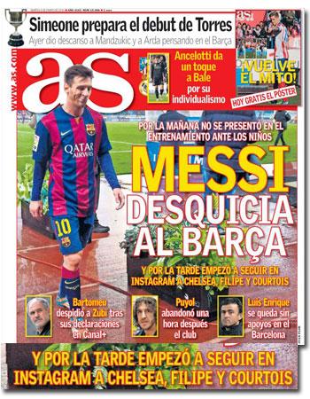 Leo Messi en portada de 'As'
