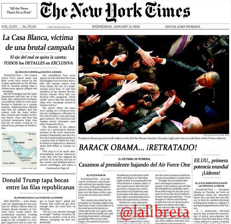 The New Yorkt Times editado por Josep Pedrerol