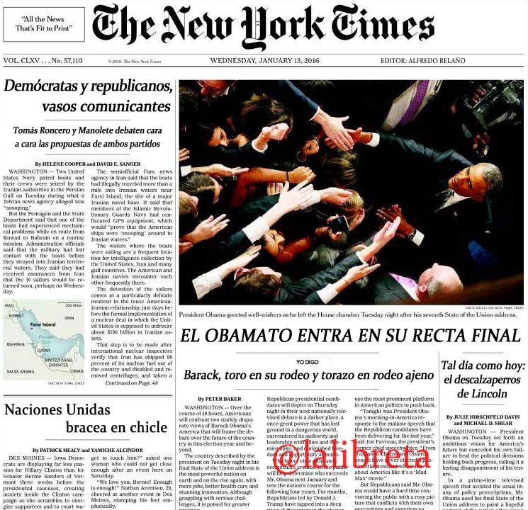 The New Yorkt Times editado por Alfredo Relaño