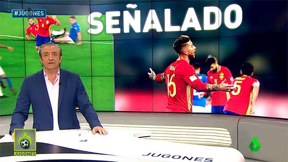 Josep Pedrerol y Sergio Ramos