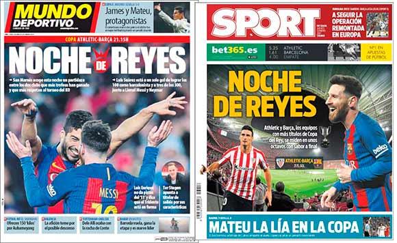Portadas Mundo Deportivo y Sport